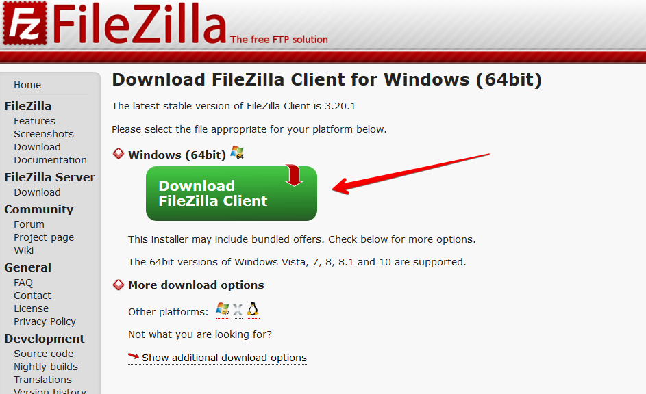 Filezilla Link Download